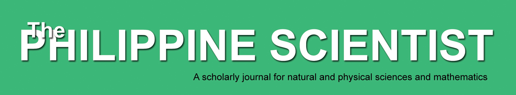 The Philippine Scientist masthead